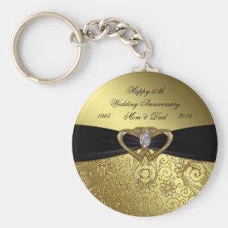 50th Golden Wedding Anniversary Key Chain