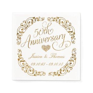 invitation_republic 50th Golden Wedding Anniversary Paper Napkins