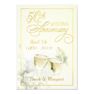 Golden Wedding Anniversary Invitations Announcements