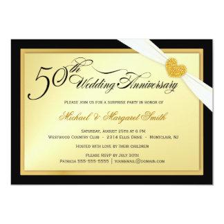 "50th Golden Wedding Anniversary Party Invitations 4.5"" X 6.25"" Invitation Card"