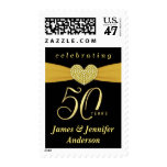 50th Golden Wedding Anniversary Party Postage