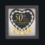 "50th Golden Wedding Anniversary | Personalize Gift Box<br><div class=""desc"">50th Anniversary Keepsake Gift Box. 100% Customizable. Ready to Fill in the box(es) or Click on the CUSTOMIZE button to add, move, delete, resize or change any of the font or graphics. Made with high resolution vector and/or digital graphics for a professional print. NOTE: (THIS IS A PRINT. All zazzle...</div>"