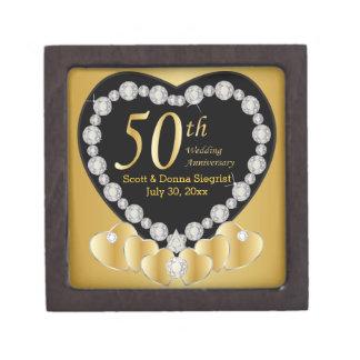 Golden Wedding Gift Box : 50th Wedding Anniversary Gift Boxes 50th Wedding Anniversary ...