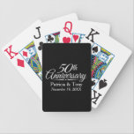 """50th Golden Wedding Anniversary Personalized Bicycle Playing Cards<br><div class=""""desc"""">This design features the color black. If you need a different year,  just send me a message! Perfect gift for parents or grandparents. A keepsake that you can customize.</div>"""