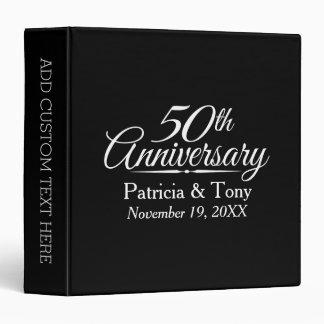 50th Golden Wedding Anniversary Personalized Binder