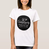 50th Golden Wedding Anniversary Personalized T-Shirt