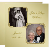 50th Golden Wedding Anniversary Photo Invite