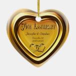 50th Golden Wedding Anniversary Photo Ornament