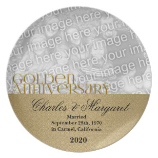 50th Golden Wedding Anniversary Photo Plate