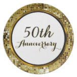 50th Golden Wedding Anniversary Plate