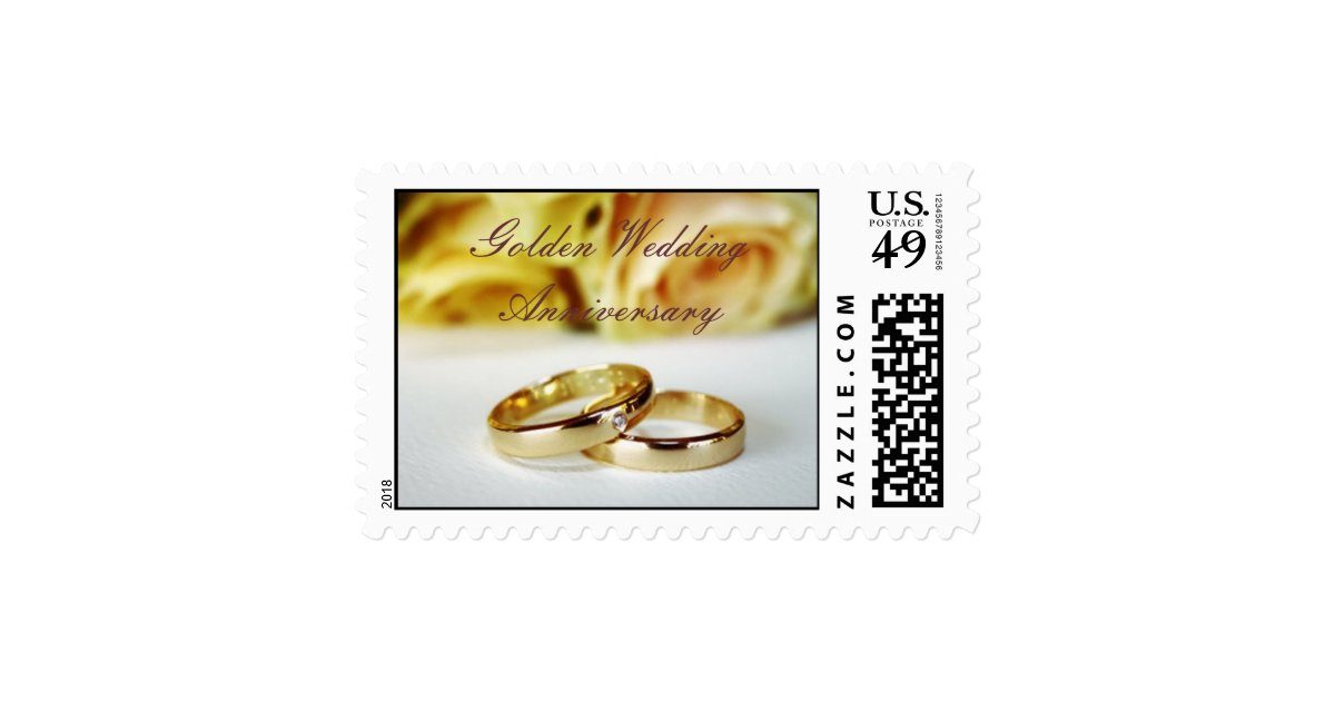 Golden Wedding Anniversary Gift Experiences : 50TH Golden Wedding Anniversary Postage Stamp Zazzle
