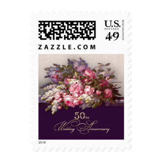 50th Golden Wedding Anniversary Postage Stamps Stamps