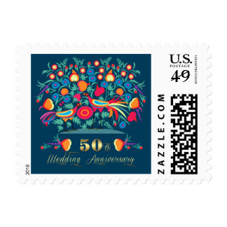 50th Golden Wedding Anniversary Postage Stamps
