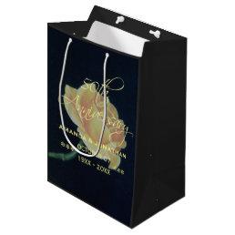 50th Golden Wedding Anniversary Rose Medium Gift Bag