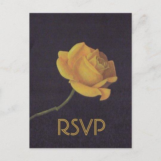 50th Golden Wedding Anniversary Rose Rsvp Invitation Postcard