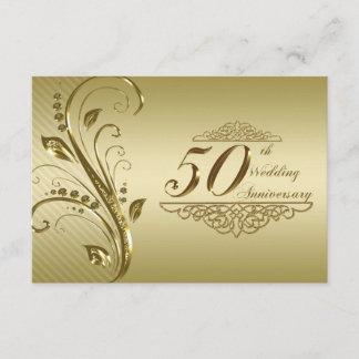 50th Golden Wedding Anniversary RSVP Card