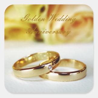 50TH Golden Wedding Anniversary Square Sticker