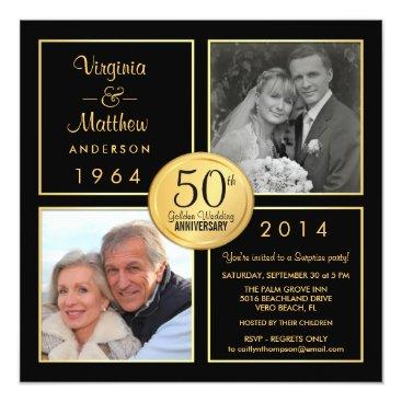 anniversarie 50th Golden Wedding Anniversary Surprise Party Card