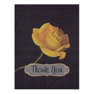 50th Golden Wedding Anniversary Thank You Postcard