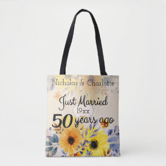 50th Golden Wedding Anniversary Tote Bag