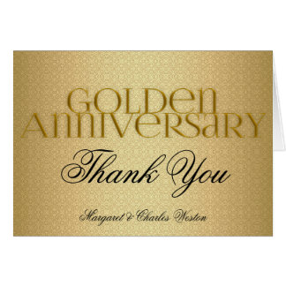 50th Golden Wedding Annivsersary Custom Cards