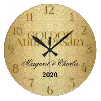 50th Golden Wedding Annivsersary Custom Clock