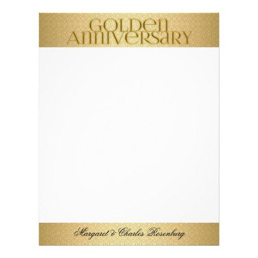 50th Golden Wedding Annivsersary Custom Customized Letterhead