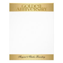 50th Golden Wedding Annivsersary Names Letterhead