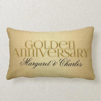 50th Golden Wedding Annivsersary  Photo Lumbar Pillow