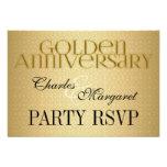 50th Golden Wedding Annivsersary RSVP Personalized Invitations