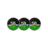 50th Golf birthday to golfer with balls and tees Golf Ball Marker