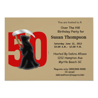 50th Grim Reaper Birthday Invitation