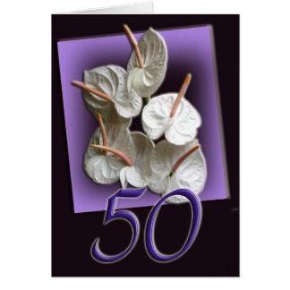 50th Happy Birthday Card