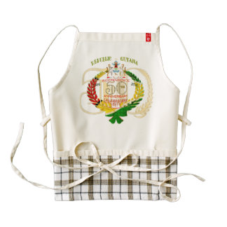 50th Independence Anniversary Guyanese Zazzle HEAR Zazzle HEART Apron