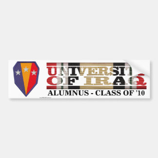 50th Infantry BCT U of Iraq Alumnus Sticker