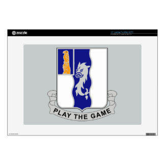 """50th Infantry Regiment - Play The Game Decal For 15"""" Laptop"""