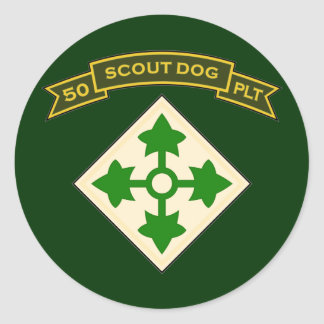 50th IPSD - 4th Infantry Round Stickers