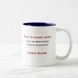 50th IPSD - 4th Infantry Two-Tone Coffee Mug