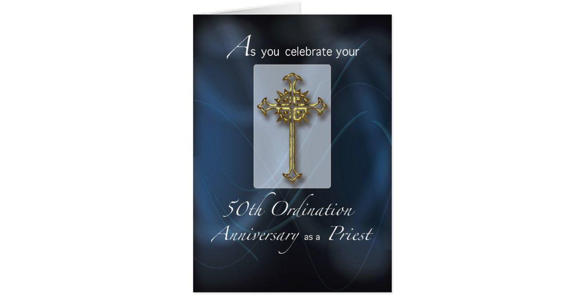 50th jubilee ordination anniversary of priest card  zazzle