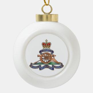 50th Missile Regiment Royal Artillery Ceramic Ball Christmas Ornament