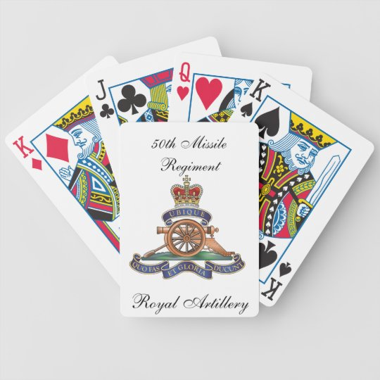 50th Missile Regiment Royal Artillery Playing Card