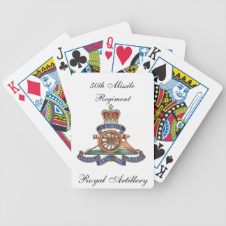 50th Missile Regiment Royal Artillery Playing Card Bicycle Playing Cards