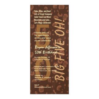 50th Modern Birthday Chocolate Coffee Tall W365a Card