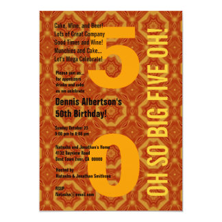 50th Modern Birthday Gold Diamonds B210 Card
