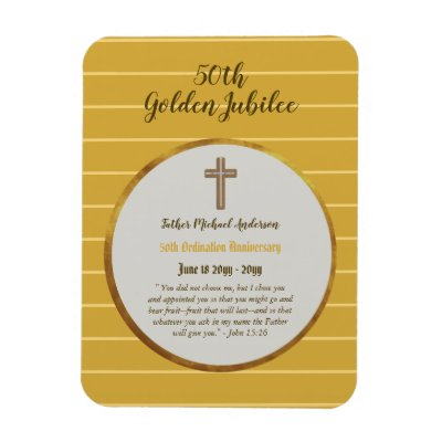 50th Ordination Anniversary Priest Golden Jubilee Magnet