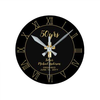 50th Ordination Anniversary Priest Golden Jubilee Round Clock