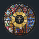 """50th Ordination Anniversary Stained Glass Golden Large Clock<br><div class=""""desc"""">This item is one of many featured in a collection of gifts for members of the Clergy including Priest, Nun, Pastor, Deacon, Bishop and more. They are for a variety of occasions include newly ordained, ordination anniversary, thank you, birthday, Christmas and more. Ma____________________________________________________________________________ 1. For assistance, custom design or matching...</div>"""