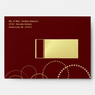 50th Party Invitation Envelopes - Gold & Burgundy