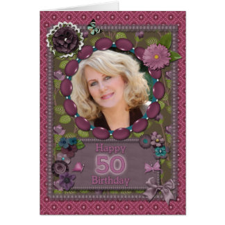 50th Photo card for a birthday