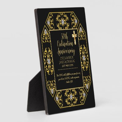 50th PRIEST Ordination Anniversary Personalized Plaque